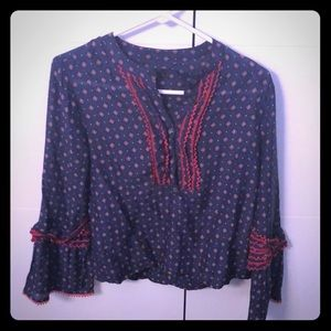 Jcrew blouse with flare sleeves